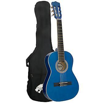 タイガー子供 1/2 サイズのクラシック ギター パッケージ - ブルー