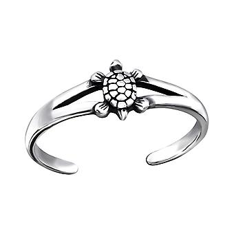 Turtle - 925 Sterling Silver Toe Rings - W27173x
