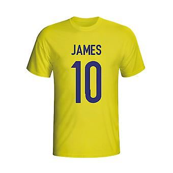 James Rodriguez Colombia Held-T-Shirt (gelb) - Kids