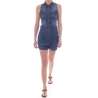 Diesel Womens Denim Sleeveless Jumpsuit