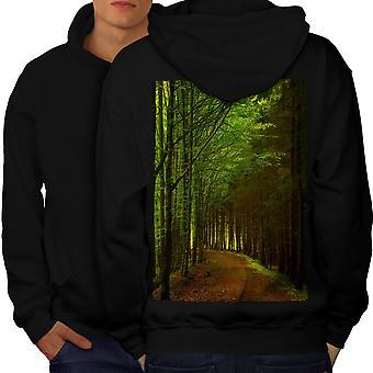 wellcoda Hill Beautiful Nature Mens Sweatshirt Evening Casual Jumper