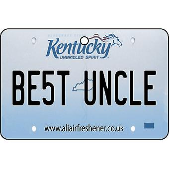 Kentucky - Best Uncle License Plate Car Air Freshener