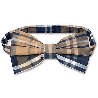 Vesuvio Napoli BOWTIE PLAID Design Men's Bow Tie