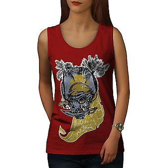 Plage mer Pirate femmes RedTank Top | Wellcoda
