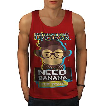 Need Banana Monkey Men RedTank Top | Wellcoda