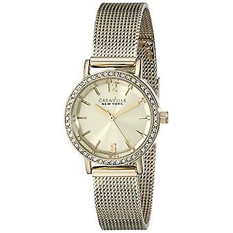 Caravelle New York Women's 44L157 Analog Display Analog Quartz Yellow Watch