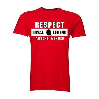 Arsene Wenger szacunek T-Shirt (czerwony)