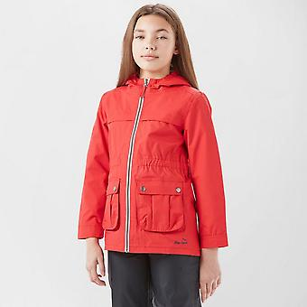 New Peter Storm Girl's Weekend Full Zip Long Sleeve Waterproof Jacket Red