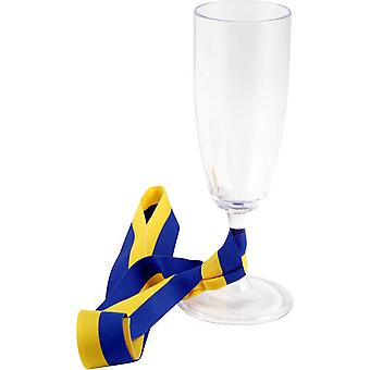 Champagne glass Student with satin ribbon