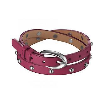 Esprit női karkötő bőr rozsdamentes acél szoknya Rio Orchid Pink ESBR11335E380