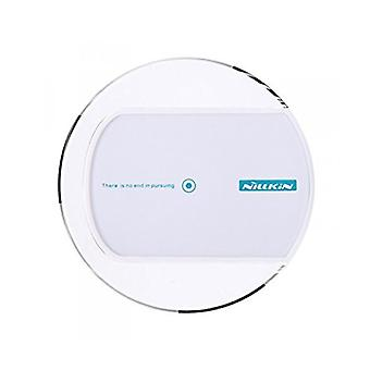 Universal inductive charger for Wireless charging Qi NFC wireless charger round dock white
