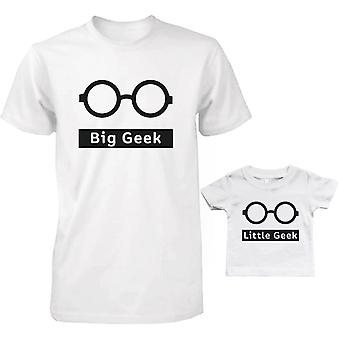 Big Geek and Little Geek Dad and Baby Matching T-Shirts