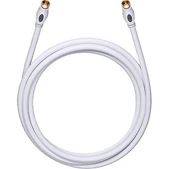 Antennas, SAT Cable [1x F plug - 1x F plug] 1.20 m 120 dB gold plated connectors White Oehlbach Transmission Plus S