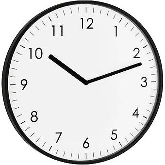 TFA Dostmann 60.3026.01 Quartz Wall clock 25.5 cm x 1.5 cm Black