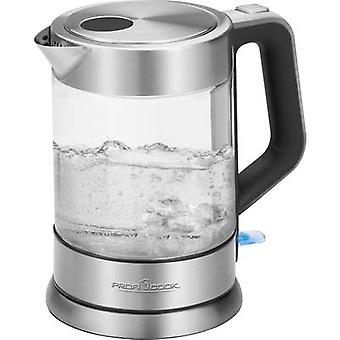 Profi Cook PC-WKS 1107 G Kettle cordless Glass, Stainless steel