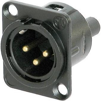 Plug conector XLR Neutrik NC3MD-S-B-1 manga, os pinos retos número de pinos: 3 preto 1 computador (es)