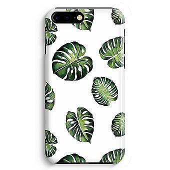 iPhone 8 Plus pełna obudowa głowiczki (błyszcząca) - tropikalny liści