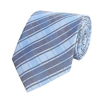 Tie cravate cravate bleu 8cm damier Fabio Farini
