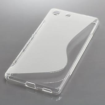 OTB TPU CASE COMPATIBLE TO SONY XPERIA M5 S-CURVE TRANSPARENT