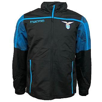 2018-2019 Lazio Macron cremallera chaqueta de entrenamiento (negro)