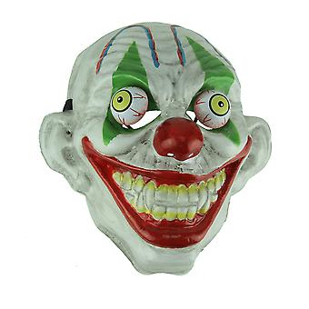Green Eye Old Looking Creepy Googly Eyed Clown Costume Mask