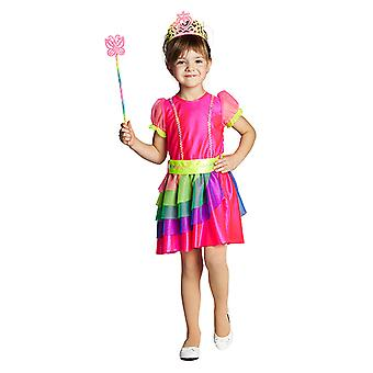 Rainbow fairy Rainbow kostyme kjole for barn