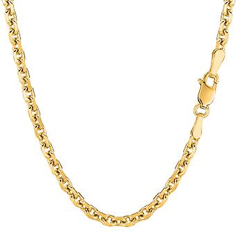 14k Yellow Gold Cable Link Chain Necklace, 4.0mm