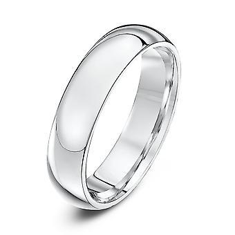 Star Wedding Rings 18ct White Gold Heavy Court Shape 5mm Wedding Ring