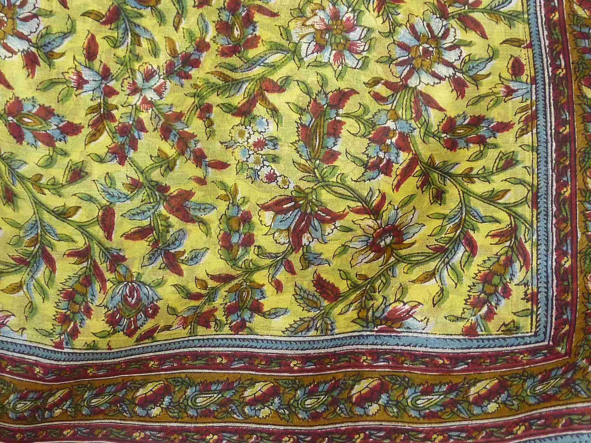 Mulberry Silk Traditional Square Scarf Lamu Caramel by Pashmina & Silk