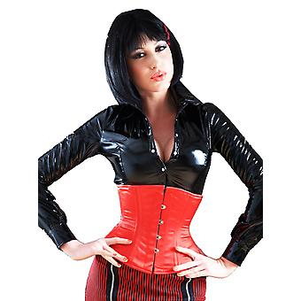 Killer Corsets Women's Corset in Satin Red Steel Boned Waist Cincher