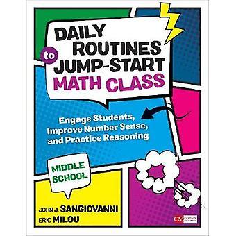 Päivittäiset rutiinit on Jump-Start matematiikka luokka - Middle School - harjoittaa Stude