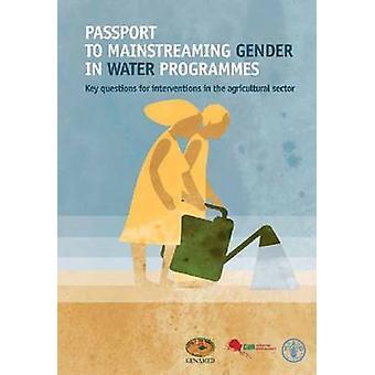 Paspoort naar integratie van de genderdimensie in Water's - kernvragen f