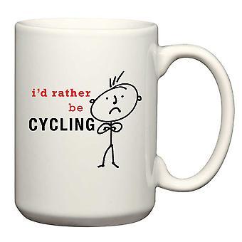 Hombres más bien ciclismo hombre taza
