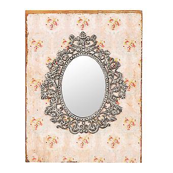 Clayre & EEF ijdelheid spiegel hout glas armoedig huisje romantiek ca. 23 x 2 x 30 cm