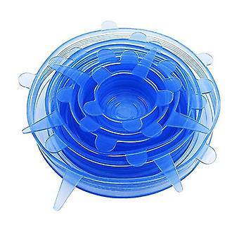 6x modrý silikónový uzáver