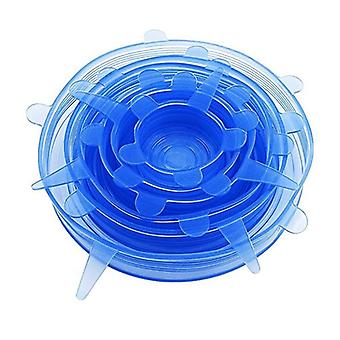 6x Blaue Silikonkappe