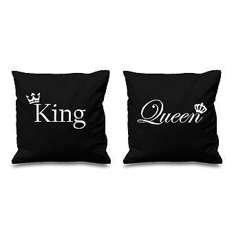 """الملك والملكة تاج أسود وسادة تغطي 16 """"16"""""""
