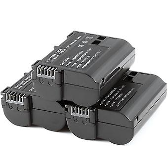 3x - Fully Decoded Battery for Nikon EN-EL15 ENEL15 D600 D800 D800E D7000 1 V1 1V1 MB-D12 MBD11 GRIP