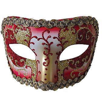 أوبرا القرون الوسطى قناع الذهب الأحمر لحفلة تنكرية
