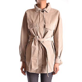 Peuterey Ezbc017042 Women's Beige Velvet Outerwear Jacket