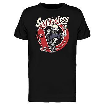 Skater Skelett T-Shirt Herren-Bild von Shutterstock