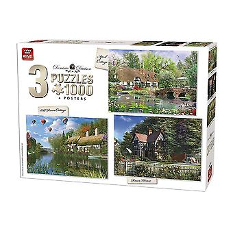 Cottage King 3-In-1 Compendio Jigsaw puzzle (3 x 1000 pezzi)
