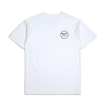 Brixton Wheeler II T-Shirt White Orange Blue
