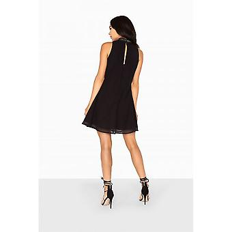 Little Mistress Womens/Ladies Aurora Placement Embellished Shift Dress