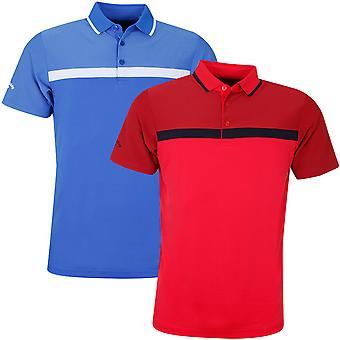 Callaway mens fijne lijn Opti-dri kleur blok Golf Polo shirt