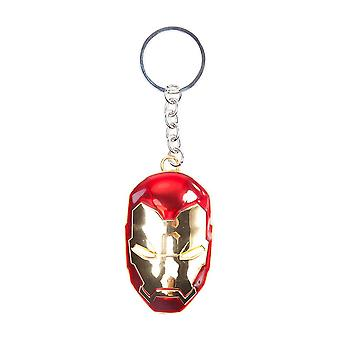 Iron Man 3D Mask Metal Keyring