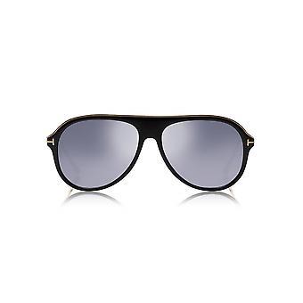 Tom Ford Shiny Black & Gold Nicholai Sunglasses