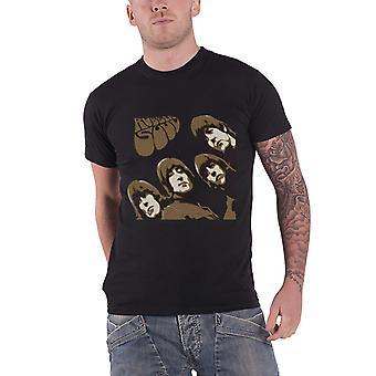Det Beatles T Shirt Rubber Soul skiss Band Logo nya officiella Mens svart