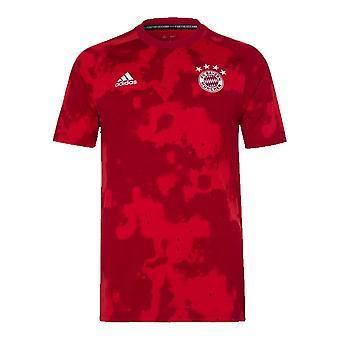 2019-2020 Bayern München Adidas pre-match Trænings skjorte (rød)