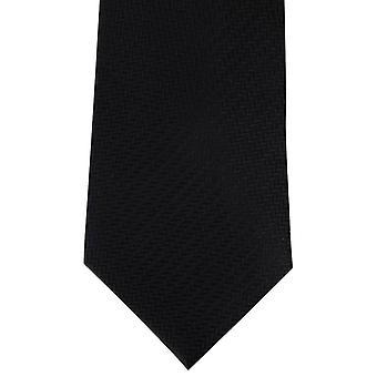 David Van Hagen chevrons Cravate - Noir